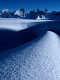 Snow Lake Area on Upper Biafo Glacier in Karakoram Range  Pakistan