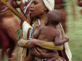 Mother Carrying Baby  Blur  Papua New Guinea