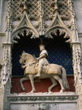Statue of Louis Xii and His Horse at Chateau De Blois  Blois  France