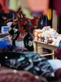 Woman Amongst Stalls at Friday Market  San Francisco El Alto  Guatemala