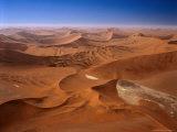 Huge Sand Dunes in Namib-Naukluft Desert Park  Sossusvlei  Namibia