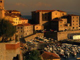 Old Section of Town on Waterfront  Piombino  Italy