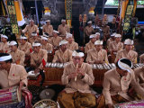 Musicians Performing at Ngenteg Linggih Festival  Kedewatan Village  Ubud  Indonesia