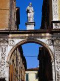 Archway Connecting Loggia Del Consiglio to Palazzo Degli Scaligeri Verona  Veneto  Italy
