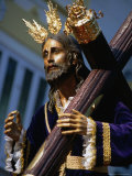 Statue During Holy Week Festival  Malaga  Spain