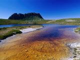 The Overland Track and Cradle Mountain from Kathleens Pool  Tasmania  Australia