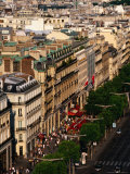 Champs Elysees Seen from Arc De Triomphe  Paris  France