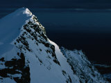 Peak on South End of Lofoten Island and the Ocean  Henningsvaer  Lofoten  Nordland  Norway