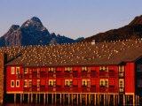 Gulls Sunning Themselves on Top of Building  Svolvaer  Lofoten  Nordland  Norway