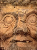 Stone Statue of the Mayan God Pahuatun at the Maya Ruins  Copan  Honduras