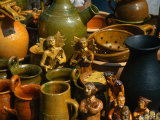 Potted Figures and Jars at Annual Craft Fair  Kazimierz Dolny  Lubelskie  Poland