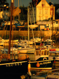 Sunset Over Boats in Harbour  Piriac  France