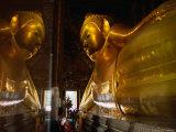 Reclining Buddha in Wat Thammamongkhon  Bangkok  Thailand
