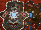 Craft Decoration with Inlaid Buttons and Mirrors  Konya  Turkey