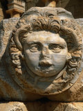 Close Detail of the Mighty Medusa - Severan Forum - Leptis Magna  Libya