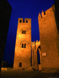 Chiesa (Church) Madre with Bell Tower  in Piazza Matrice  Erice  Sicily  Italy