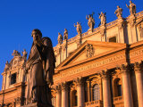Statue of St Paul in Front of Facade of the Basilica San Pietro  Vatican City