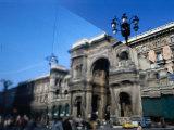 Abstract Reflection of Galleria Vittorio Emanuele II  Milan  Italy