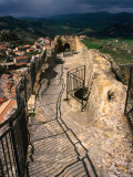 Ridge of Upper Defence at Castle  Sperlinga  Italy