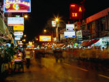Street at Night  Thanon Khao San  Bangkok  Thailand