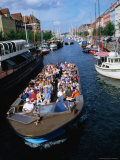 Boat Touring Canals of Christianshavn  Copenhagen  Denmark