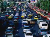 Rush Hour Traffic  Bangkok  Thailand