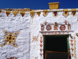 Tribal Designs Painted on House at Jaisalmer Fort  Jaisalmer  Rajasthan  India