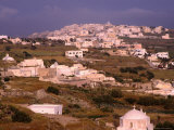White-Washed Roofs and Scattered Villages Across Island Countryside  Santorini Island  Greece