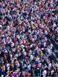 Spectators at Oriole Park at Camden Yards Baseball Stadium  Baltimore  USA