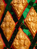 Colourful Glass Mosaic at Temple  Vientiane  Vientiane Prefecture  Laos