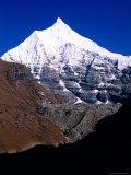 Snow-Capped Mountain Peak  Jichu Drakye  Bhutan