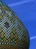Tiled Dome of Emamzade-Ye Shiraz  Fars  Iran