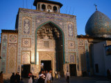 Entrance to the Bogh'E-Ye Shah-E Cheragh  or the Tomb of the King of the Lamp  Shiraz  Iran