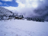 Laya Village Covered in Snow  Laya  Bhutan