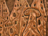 "Detail of Copper Representation of ""Fairy Chimneys "" Goreme  Cappadocia  Turkey"