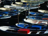 Boats Moored in Harbour  Mundaka  Pais Vasco  Spain