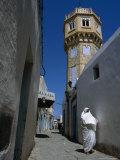 Woman in Narrow Street  Bizerte  Bizerte  Tunisia