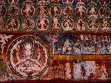 Wall Painting at Alchi Gompa (Monastery)  Alchi  Jammu & Kashmir  India