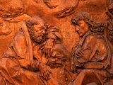 Detail of Wood Carved Altar by Tilman Riemenschneider in St James Church  Germany
