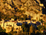 Sunlight on the Village of Moustiers Sainte Marie  Gorges Du Verdon  France