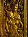 Detail at Wat Xieng Thong Vientiane  Vientiane Prefecture  Laos