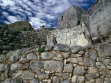 Ruins at Ancient Inca City  Machu Picchu  Cuzco  Peru