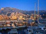 Luxury Yachts Docked in the Harbour at Sunrise  Monaco  Monaco
