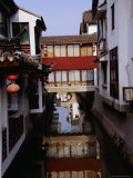 Buildings on the Canal  Suzhou  Jiangsu  China
