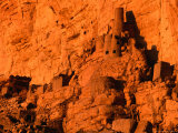 Abandoned Tellem Cliff Dwellings  Banani  Mali