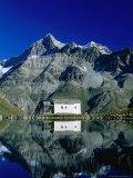 A White Chapel Reflected in the Schwarzsee  Zermatt  Valais  Switzerland