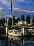 Yacht Docked at Moyne River Port Fairy  Victoria  Australia