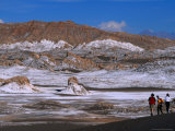 People Walking in the Valley of the Moon at San Pedro De Atacama  Valle De La Luna  Chile