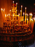 Prayer Candles in Athens Cathedral  Athens  Attica  Greece