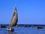 Traditional Dhow Fishing Boats in Maputo&#39;s Harbour  Maputo  Mozambique